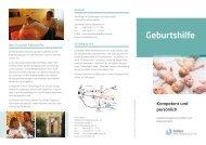 Flyer Gynäkologie/Geburtshilfe - RoMed Kliniken
