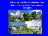 Vortrag (PDF 3 MB) - RoMed Kliniken