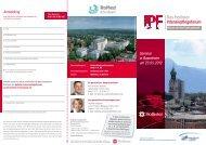 Anmeldung Seminar in Rosenheim am 23.05.2012 - RoMed Kliniken