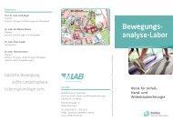 Faltblatt Bewegungsanalyse-Labor - RoMed Kliniken