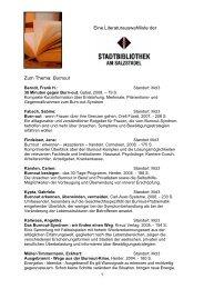 Literaturhinweise (PDF 0,1 MB) - RoMed Kliniken