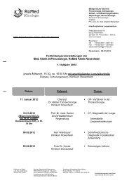 Fortbildungsveranstaltungen der Med. Klinik III ... - RoMed Kliniken