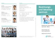 Respiratory Intermediate Care Unit - RICU - RoMed Kliniken