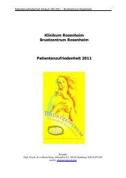 Auswertung 2011 - RoMed Kliniken