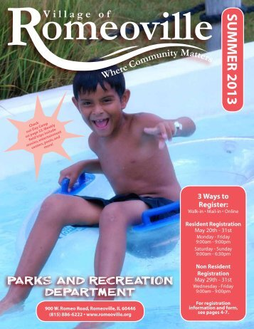 Full Summer 2013 Brochure.pdf - Village of Romeoville