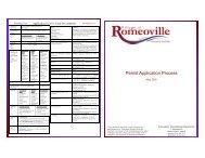 permit application flow chart - Village of Romeoville