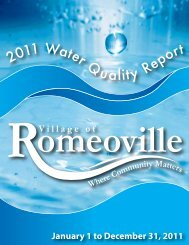 2011 Water Quality Report - Village of Romeoville