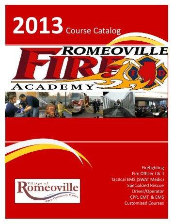 2013 Course Schedule Catalog