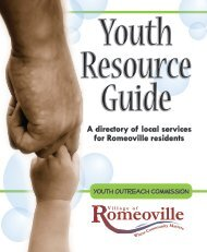 Youth Resource Guide - Village of Romeoville