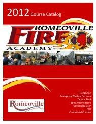2012 - romeoville fire academy