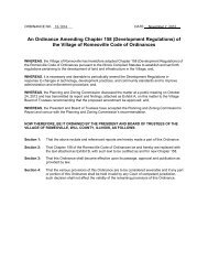 An Ordinance Amending Chapter 158 - Village of Romeoville
