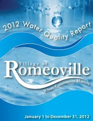 2012 Water Quality Report - NEW! - Village of Romeoville