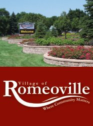 new resident brochure - final draft - Village of Romeoville