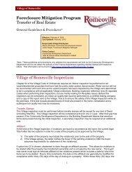 Foreclosure Mitigation Program Transfer of Real Estate Village of ...