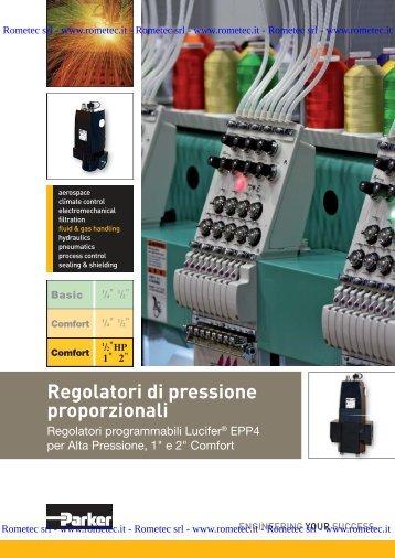 Regolatori di pressione proporzionali - Rometec srl