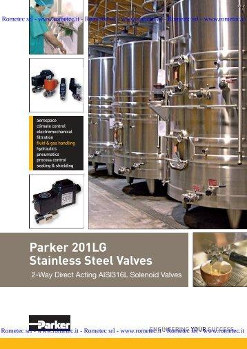 Parker 201LG Stainless Steel Valves - Rometec srl