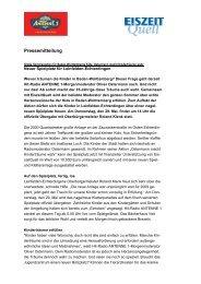 27.05.2008 – Ostermann macht Kinderträume wahr - EiszeitQuell
