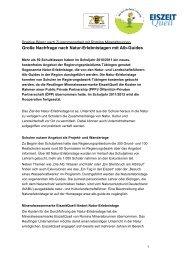 Große Nachfrage nach Natur-Erlebnistagen mit Alb ... - EiszeitQuell