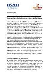 13.03.2012 – EiszeitQuell und BeckaBeck präsentieren das Eiszeitbrot