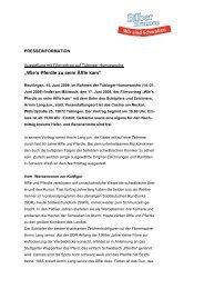 Äffle und Pferdle Ausstellung mit Filmvortrag auf Tübinger ...