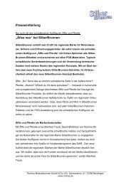 """Pressemitteilung """"Älles neu"""" bei SilberBrunnen - EiszeitQuell"""