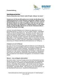09.01.2009 – Romina Mineralbrunnen fördert Listhof ... - EiszeitQuell