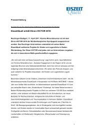 11.04.2011 – EiszeitQuell erhält Ehren-VICTOR 2010