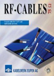 75 Ohm Catalog 2450 Kb - Kabelwerk Eupen AG