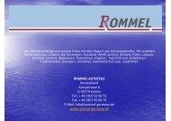 seit 1993 beschäftigt sich unsere Firma mit dem ... - Rommel Autoteile