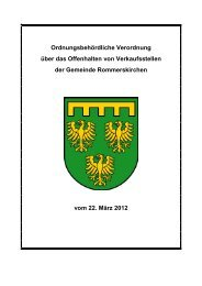 C 6 Ordnungsbehördliche Verordnung über das ... - Rommerskirchen