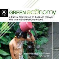 A Brief For Policymakers on the Green Economy and ... - UNEP