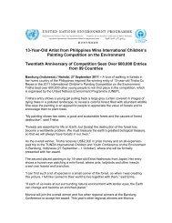 13-Year-Old Artist from Philippines Wins International ... - UNEP
