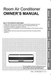 Room Air Conditioner OWNER'S MANUAL