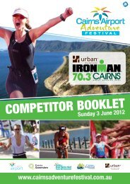 Competitor's Information Booklets - The Roneberg's of Cairns Home ...