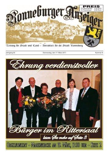 Ronneburger Anzeiger 06/2011 - der Stadt Ronneburg / Thüringen
