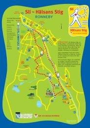 Karta Hälsans stig - Ronneby kommun