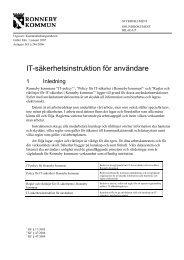 IT-säkerhetsinstruktion för användare - Ronneby kommun