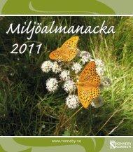Miljöalmanacka 2011 - Ronneby kommun