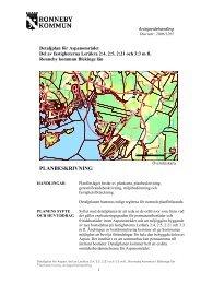 Planbeskrivning för del 1 och 2 - Ronneby kommun