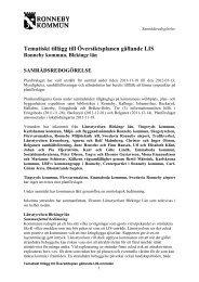 Samrådsredogörelse - Ronneby kommun