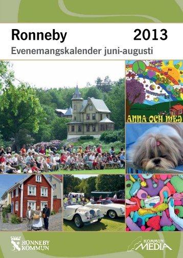 Evenemangskalender juni - Ronneby kommun