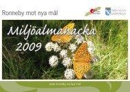 Miljöalmanacka 2009 - Ronneby kommun
