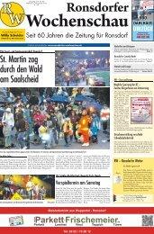 Ausgabe Nr. 45 vom 6.11.2013 - Ronsdorfer Wochenschau