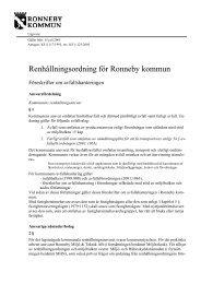 Renhållningsordning för Ronneby kommun