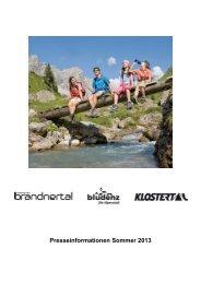 Medieninformation Sommer 2013 - PDF - Urlaub in der Alpenregion ...