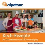 alpetour Kochbuch für Selbstversorgergruppen