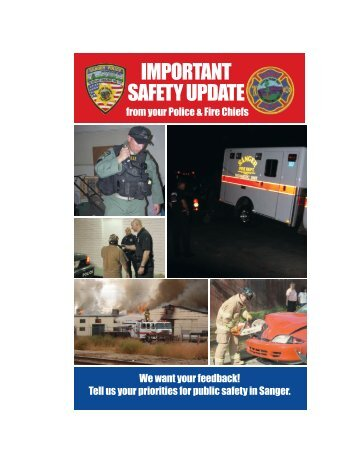 Read a Safety Update from your Police and Fire chiefs - City of Sanger