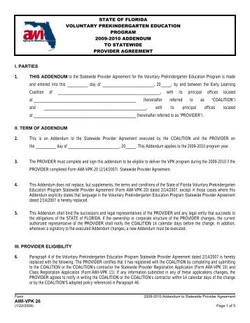 Vpk Provider Application Checklist 3 9 10 Pdf Early Learning