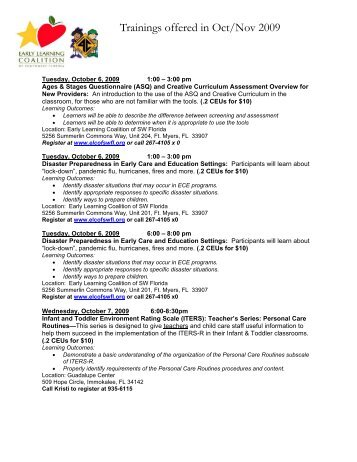 Information / Registration - Early Learning Coalition of Southwest ...