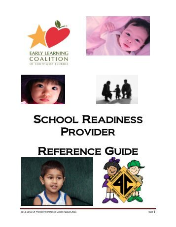 school readiness provider reference guide - Early Learning ...